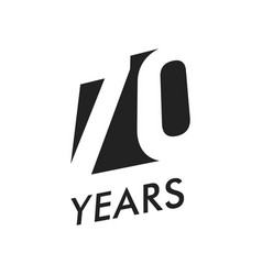 Seventy years emblem template anniversary vector