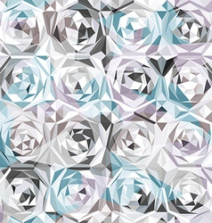 silver roses seamless pattern vector image