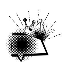 speech bubble pop art style vector image