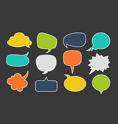 speech bubbles for text dialogue talk comic vector image