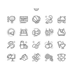 sport equipment well-crafted pixel perfect vector image