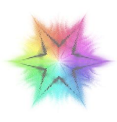 Star and mosaic vector