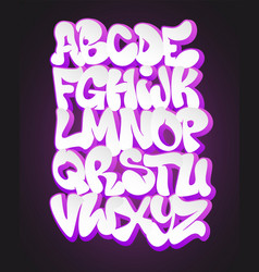 Stylized graffiti font and alphabet vector