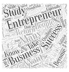 Successful entrepreneur Word Cloud Concept vector