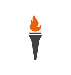 torch icon design template isolated vector image