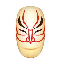 Traditional Japan Mask Kabuki vector