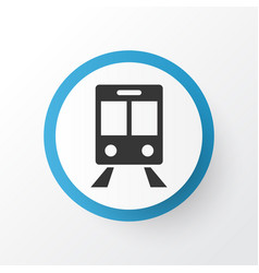 train icon symbol premium quality isolated vector image