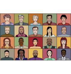 twenty adult people vector image