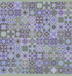 Vintage bright seamless intricate tile pattern for vector