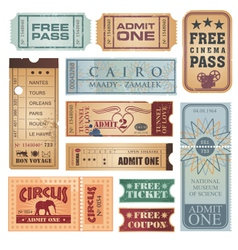 vintage tickets vector image