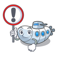 with sign miniature submarine in the character vector image