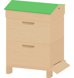 wooden beehive on a white background vector image