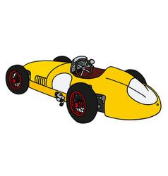 classic yellow racing car vector image vector image