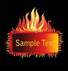 Fire Frame Isolated on Black Background vector image