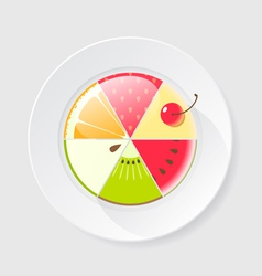 Fruit cake icon vector image