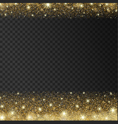 golden sparkles drop background vector image vector image