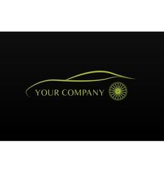 Green car logo vector image