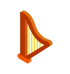 Harp isometric 3d icon vector image vector image