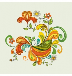 illustrative floral vector image vector image