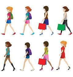 Faceless women vector image vector image