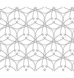 Geometric line art seamless pattern vector image vector image