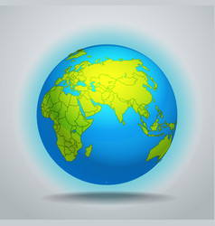 The Earth template vector image vector image
