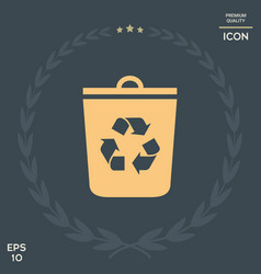 trash can recycle bin icon vector image
