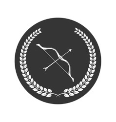 bow and arrow logo vector image vector image
