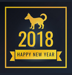 happy new year greeting card banner for design vector image vector image