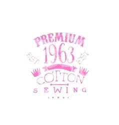 Premium cotton vintage emblem vector