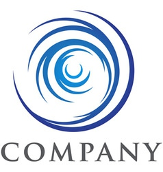 swirl logo vector image vector image