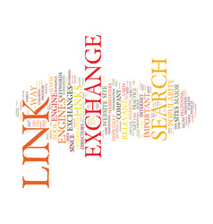 The death of the link exchange text background vector