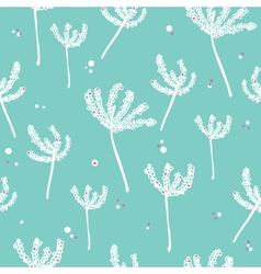 White and blue background with abstract plants vector image