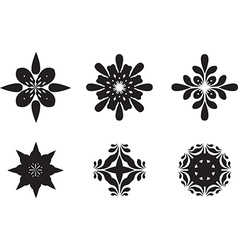 abstract flower symbols vector image vector image