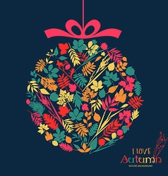 Autumn ball design vector image