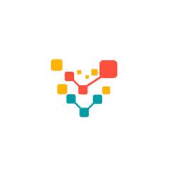 digital connection logo vector image