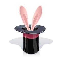 Magic cap and rabbits ear vector image vector image