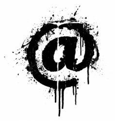 mail grunge splatter design element vector image vector image