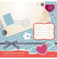 scrap-booking set vector image vector image