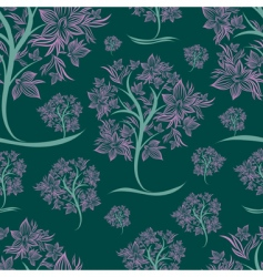 vector seamless pattern from trees vector image