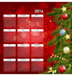 2016 New Year Calendar vector image