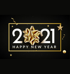 2021 new year happy background gold 2021 new year vector image