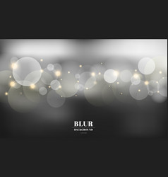 Abstract black blurred background with bokeh vector
