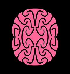 Abstract brain Pink Brains on black background vector image