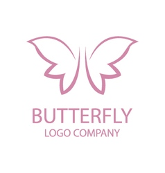 Abstract butterfly logo vector