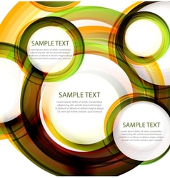 abstract circles Banner with sample text vector image