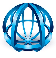 Abstract sphere icon vector