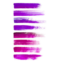 abstract watercolor brush strokes isolated on vector image