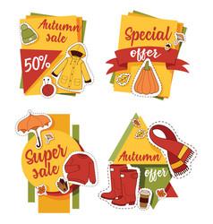 Autumn sale offer banner for website banner items vector