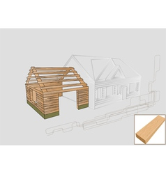 Barn detail wood vector